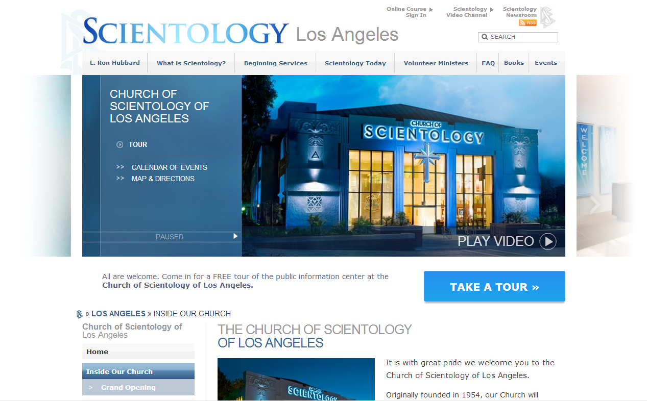 All are welcome to the Church of Scientology of Los Angeles or any church