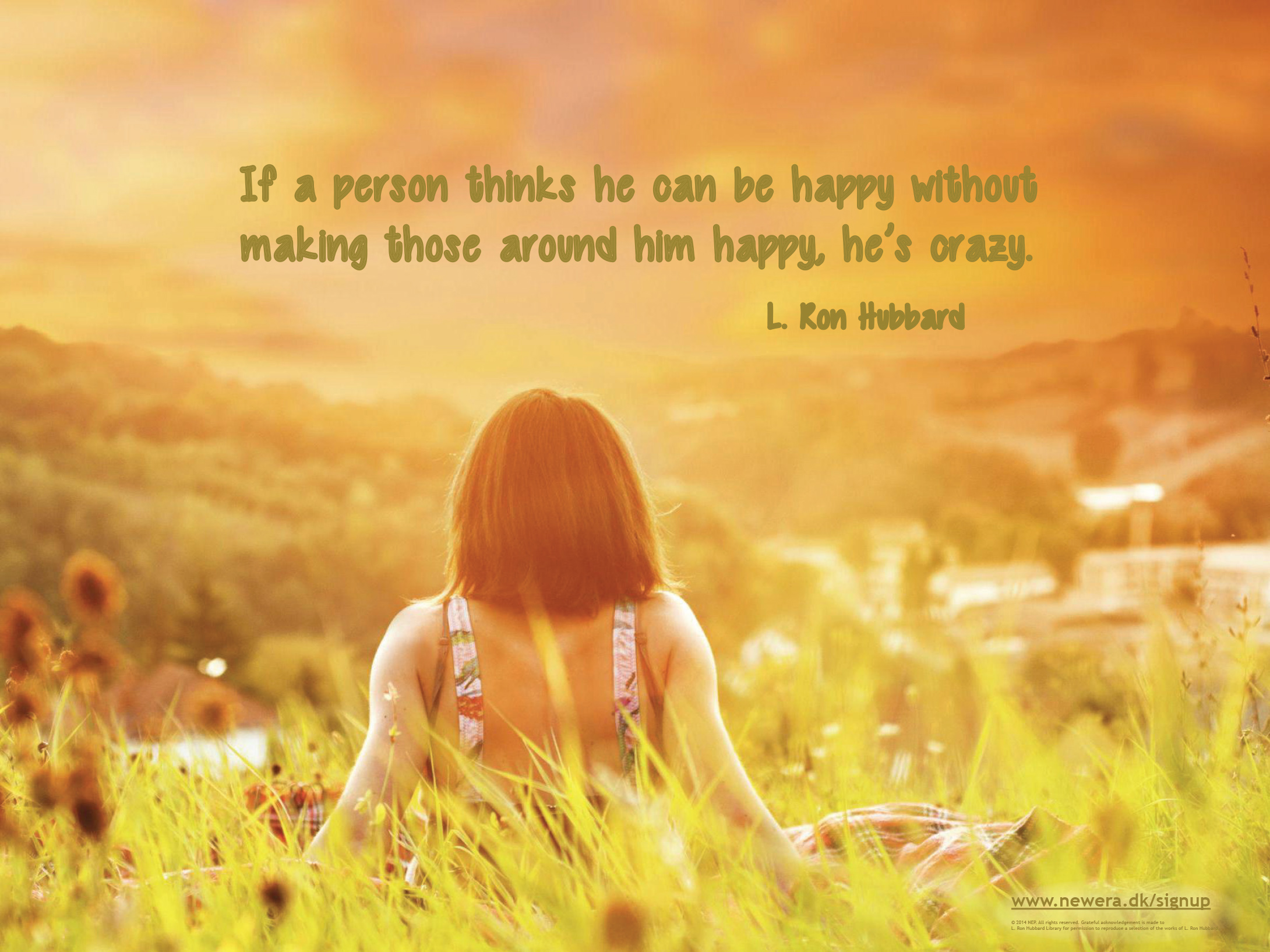 L. Ron Hubbard Quotes and Desktop Backgrounds - Real Scientology Beliefs